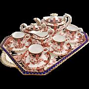 Stunning antique Royal Crown Derby cabaret tea set, pattern 2712, 1892