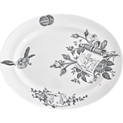 Aesthetic Movement meat platter Grove & Stark, 1883 perfect for Thanksgiving