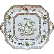 Antique Copeland Spode cake plate with Love Birds, earthenware, 1913