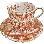 Antique Copeland Spode demitasse cup and saucer, Imari pattern, 1884