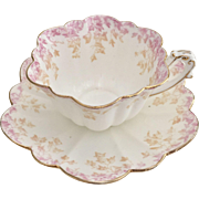 Antique Charles Wileman teacup and saucer, Empire shape with ivy pattern, 1893