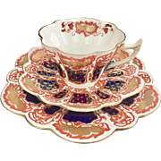 "Antique Charles Wileman teacup trio, ""Japan"" pattern on Snowdrop shape, 1898"