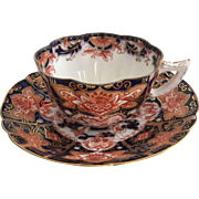 Charles Wileman teacup duo, Japan Blue & Red patt. 7223 on New Fairy shape, 1900