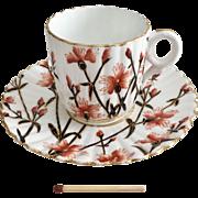 Rare Charles Wileman demitasse coffee can, Cornflowers patt. 3730 on Alexandra shape, 1887