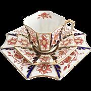 "Charles Wileman antique teacup trio, ""Japan"" patt 3476 on Square Antique shape, 1882"