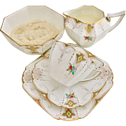 Shelley Art Deco teaset for one with cup trio, creamer and sugar bowl, Queen Anne, 1928