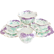 Antique English Wileman teaset for two, Floral pattern on Empire shape, 1899