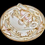 Antique English Art Nouveau teacup, possibly Minton, ca 1900