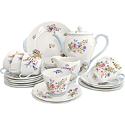 Shelley mid-Century full tea or coffee set for 6, in mint condition, vintage 1950s