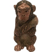 Antique Cold Painted Vienna Bronze Of A Monkey