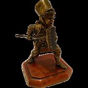 Antique Vienna Bronze Sculpture Of A Boy With A Broom