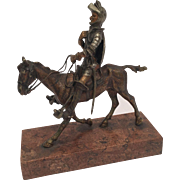Cold Painted Vienna Bronze Of Don Quixote On His Horse