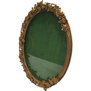 Oval French Bronze Frame With Unusual Design