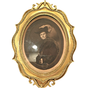 Unusual Antique Two-Dimensional Bronze Frame