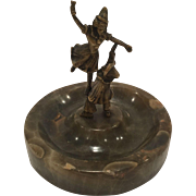 Antique Bronze Of A Male And Female Clowns Doing Acrobatics