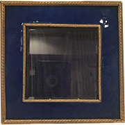 Bronze An Enamel Frame With Beveled Glass