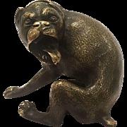 Antique Vienna Bronze Sculpture Of A Protective Watchdog