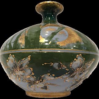 """Enameled """"R st K"""" Austrian Art Pottery Vase"""