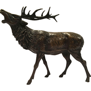 Very Large Vienna Bronze Of An Elk