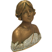 Antique Ernst Wahliss Bust Of A Woman With The EW Mark