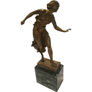 Antique Signed Georges Morin Partially Nude German Bronze