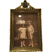 Great Antique Heavy French Bronze Picture Frame