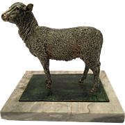 Rare Antique Cold Painted Vienna Bronze Of A Sheep