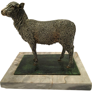 Rare Cold Painted Vienna Bronze Of A Sheep