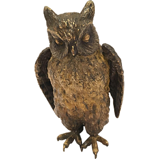 Very Dense Cold Painted Vienna Bronze Owl