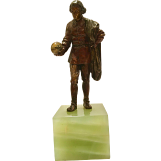 Antique Cold Painted Vienna Bronze Of A Scene From Hamlet