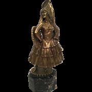"Antique Painted Vienna Bronze Of Spanish Dancer By ""Titze"""