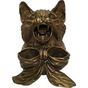 Unusually Large And Detailed Bronze Cat Box With Hinged Cover
