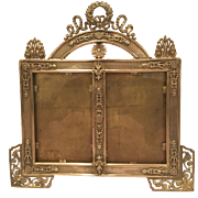 Wonderful Antique Double French Bronze Picture Frame