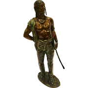 Carl Kauba Cold Painted Vienna Bronze Sculpture Of An Indian