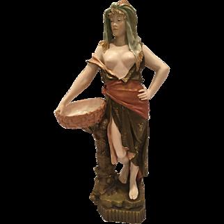 Austrian Ernst Wahliss Statue Of Semi Nude Girl