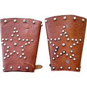 1930's-40's Western studded leather cuffs