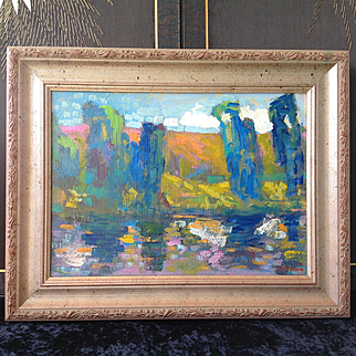 Reduced to $325 Juan Guzman Plein Air painting