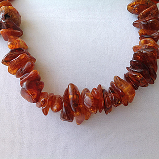 RAW Baltic amber, unprocessed, untreated amber that come directly from the Baltic Sea, necklace or strand