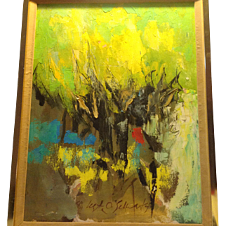 Lester O. Schwartz abstract oil painting TROPICAL SKY
