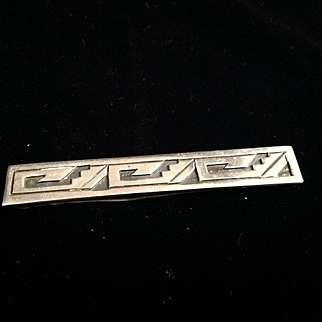 Balderas Taxco 3 Eagles Sterling Silver all signed including (925) tie clip (slide) fully signed, probably 1940s-50s