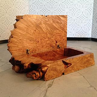 Michael Elkan burl box from his studio
