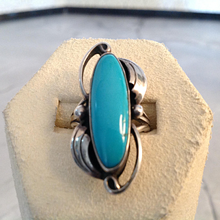 Old turquoise ring