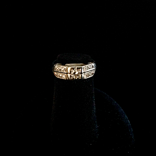 Victorian child's, probably boys diamond ring, white gold