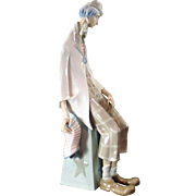 Lladro 1027 Clown with Concertina