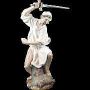 Lladro 1343 Wrath of Don Quixote