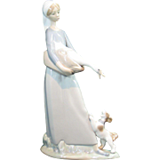 Lladro 4866 Girl with Goose and Dog