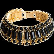 Black Baguette Rhinestone Bracelet