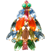 Fruit Salad Rhinestone Tree Brooch