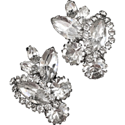 Weiss Clear Rhinestone Earrings