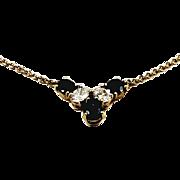 18kt Yellow Gold Kurt Wayne Sapphire and Diamond Pendant